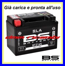 Batteria BS SLA Gel BTZ14S equivalente = YUASA YTZ14S TTZ14S pronta all'uso
