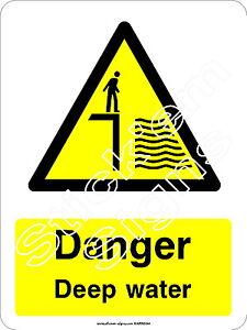Danger Deep water - WARN0044 Stickers & Signs