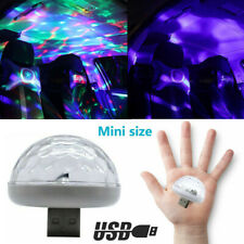 USB LED Car Atmosphere Lamp Interior Ceiling Ambient White Light Projector Sy