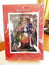 Waterford Crystal Holiday Heirlooms CHRISTMAS EVE SANTA ORNAMENT Glass -NEW/BOX!