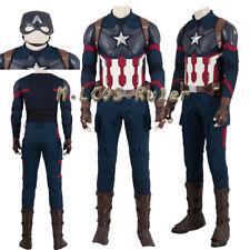 Avengers:Endgame Captain America Cosplay Costumes Halloween Customize Full Suit