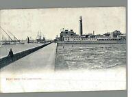 Port Said : The Lighthouse : Egypt : Vintage Postcard