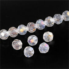 DIY 100Pc4mm Round Crystal Glass Beads white Spacer Bead For Bracelet Jewelry