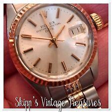 Ladies Vintage Rolex Date-just Jubilee 18K Gold & Stainless Steel Watch!!
