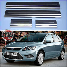 Lockwood Ford Focus Mk2 05> Stainless Steel Kick Plate Car Door Sill Protectors