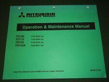 MITSUBISHI FD100 FD115 FD135 FD150A FORKLIFT OPERATION & MAINTENANCE MANUAL BOOK