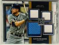 AUSTIN MEADOWS 2020 TOPPS MUSEUM RELIC GAME USED JERSEY CARD /99 TAMPA BAY RAYS