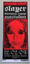 Slayer Concert Poster Mike Martin S/N Houston 2004