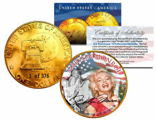 1976 MARILYN MONROE 24K Gold Plated IKE Dollar *Each Coin Serial Numbered of 376