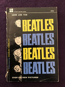 """1964 U.K. Pop Music Paperback Book - """"HERE ARE THE BEATLES"""""""