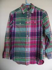 Polo Ralph Lauren Multicolore Plaid T-Shirt Manica Lunga per Ragazzi Medium