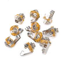 1/4 inch 6.35mm Stereo Socket Jack Female Connector Panel Mount Solder 10 PCS