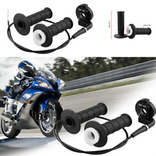 7/8inch 22mm Throttle Hand Grips Twist+Cable ATV Quad Pit Dirt Bike 50cc to190cc