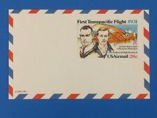 Ganzsache USA 28 c  50 Jahre Erstflug Transpacific Japan - USA
