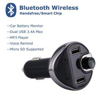 Bluetooth Dual 3.4A USB Car Charger MMC MP3 Player FM Transmitter for iPhone HTC