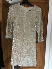 French Connection Gold Sequin Mini Dress Size 10 - party time!