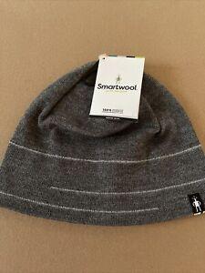 SmartWool The Lid Men's Beanie Merino Wool Blend Hat W/ Linear For Warmth Grey