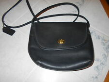 VTG Coach Quincy #9919 Black Leather Brass Cross-body Bag