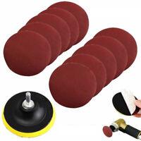 """10Pcs Sanding Disc Sander 1000 Grits 4"""" Hook Loop Sanding Backer Pad & Shank"""