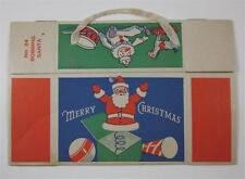 VINTAGE 1950'S 1960'S CHRISTMAS BOX BOBBING SANTA #24 WITH CLOTH HANDLE
