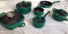 Topfset 10 teilig Keramikbeschichtet Gemischtes Set Keramik mit Deckel in Grün