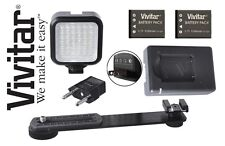 LED Light with Power Kit/Charger For Olympus OM-D E-M10 E-M5 Mark II E-M1 SP-100