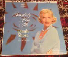 DINAH SHORE somebody loves me 1960 US CAPITOL STEREO VINYL LP RECORD