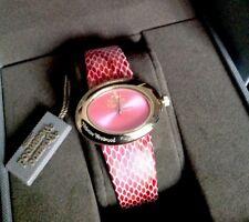 Vivienne Westwood Ellipse II pink lizard-effect watch
