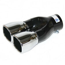 Twin Tip Exhaust Tail Pipe Muffler For Renault Scenic Clio Mk2 Mk3 Mk4 Fluence