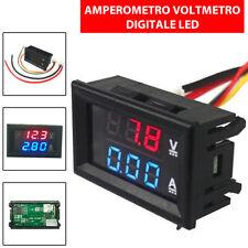 DIGITALE AMPEROMETRO VOLTMETRO LED DISPLAY DOPPIO ROSSO TESTER BLU 100V 10A od