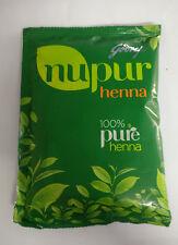 50x Godrej Nupur 100% PURE Henna Powder for hair, HAND FEET TATOO MAKING 120g