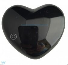 OBSIDIAN HEART PALM STONE CRYSTAL GEMSTONE HEALING MEDITATION NEW AGE WICCA