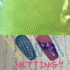 Nail Art Netting For Acrylics/gels - Neon Yellow NEW x 5 Pieces