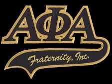 "Alpha Phi Alpha 10 1/2"" Letters Swoosh Logo Patch NEW!!"