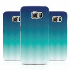 DYEFOR OMBRE CHEVRON BLUE & TEAL CASE COVER FOR SAMSUNG GALAXY MOBILE PHONES