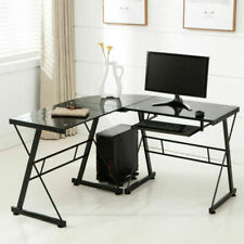 L Shape Glass Office Desk