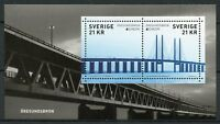 Sweden 2018 MNH Bridges Europa Oresundsbron Bridge 3v M/S Architecture Stamps