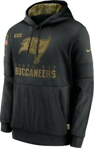 Nike 2020 Tampa Bay Buccaneers Salute To Service Sideline Therma Pullover Hoodie