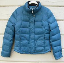 Calvin Klein Packable Lightweight Premium Down Teal Jacket Wms S MISSING HOOD