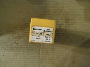 Lyman 311299 Double Cavity Bullet Mold Lead Bullet Casting Mould