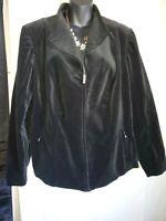 Jones New York Jacket Womens Size ( 2X ) Stretch  ( Black  )