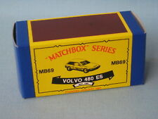 Matchbox Volvo 480ES Vintage Copy Empty Box Only No Model Car Toy 80mm