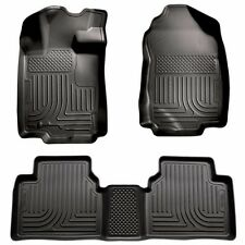 Husky Liners 2010-2012 Ford Fusion FWD Front & Rear Floor Mat Set BLACK 98361