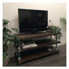 Bespoke, Rustic, Upcycled, Indistrial Style Scaffold Board TV Stand