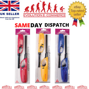 2 x BBQ Lighters Gas Cooker Oven Stove Clicker Lighter Camping Refillable Candle