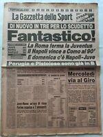 GAZZETTA DELLO SPORT 11-5-1981 JUVENTUS-ROMA COMO-NAPOLI AVELLINO-INTER