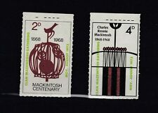 More details for gb 1968 local 2d 4d mackintosh labels mnh jk5715