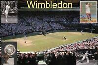 Wimbledon Tennis Tournament, London England, Boris Becker etc - Stadium Postcard