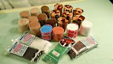 Mixed lot of Latch Hook Yarn Assorted Colors 19 Rolls and 4 four ounce Bags.