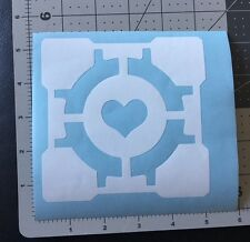 PORTAL 2 COMPANION CUBE VINYL DECAL STICKER For Car Truck windows, Walls